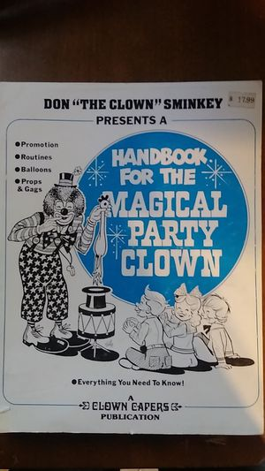 Handbook for Magical Party Clown Book Soft Cover for Sale in La Grange Park, IL