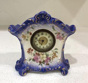 Antique German Royal Bonn Ansonia Hand Painted Porcelain Clock for Sale in Boynton Beach, FL