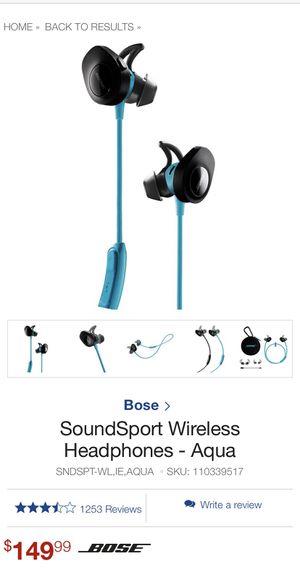 Bose SoundSport wireless Bluetooth headphones for Sale in Auburn, CA