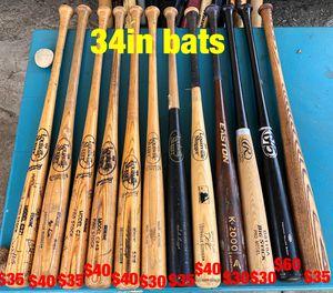 Baseball wood bats Easton Louisville slugger mizuno béisbol bates gloves for Sale in Culver City, CA