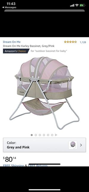 Bassinet Grey/Pink ~ New in Box for Sale in Arlington, VA