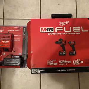 Brand new walkie M18 Tool tool combo kit Plus M18 Fuel Plus extra battery kit for Sale in Marblehead, MA