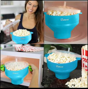 The Original Salbree Microwave Popcorn Popper with lid, Silicone Popcorn Maker Teal for Sale in Austell, GA