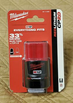 Milwaukee M12 12-Volt Lithium-Ion CP 2.0 Battery Brand New Sealed $40 Price is Firm for Sale in Seattle,  WA