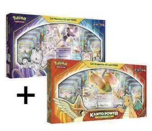 Pokemon Kanto Power Collection Box Set Mewtwo & Dragonite In Hand for Sale in Orlando, FL
