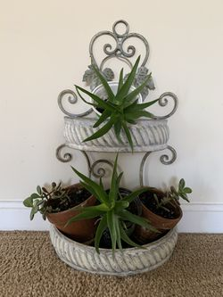 Plant stand with plants for Sale in Frederick,  MD