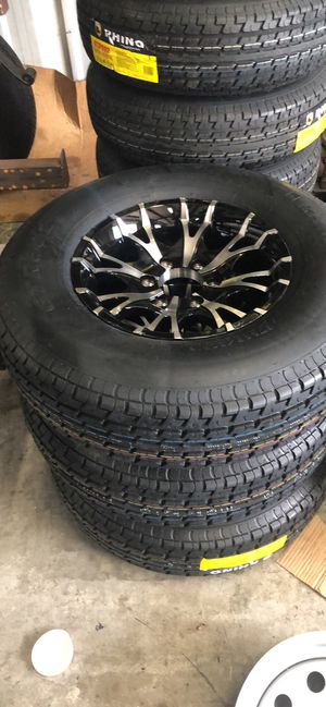 Trailer tires. We are a real trailer store. All tires have warranty. Trailer tires. All sizes. Tire only or tire and rim. We can mount tires. for Sale in Plant City, FL