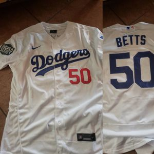Dodgers betts World Series patch jersey size Large to 3xl stitched firm price pick up only for Sale in Colton, CA