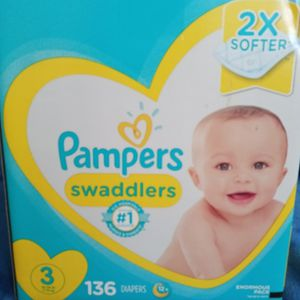 Pampers swaddlers size 3/136 diapers for Sale in Carson, CA