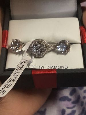 Diamond ring / earrings for Sale in Columbus, OH