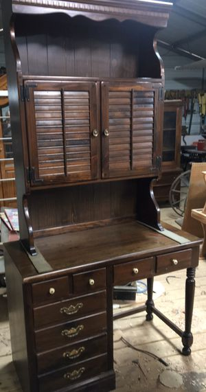 Antique Desk and Bookcase for Sale in Simpsonville, SC