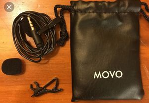 (2x) Movo PM10 Lavalier Microphone Lav Mic w/ Deadcat Wind Muff for Sale in Carmichael, CA