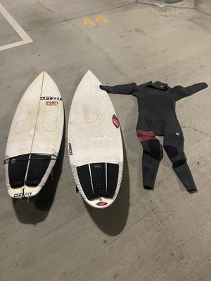 Surfboards and wetsuit pyzel sharpeye O'Neill for Sale in San Diego, CA
