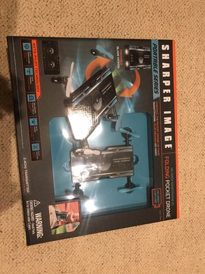 Sharper image folding pocket drone. (Brand new in box) for Sale in Solana Beach, CA