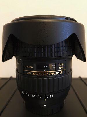 Tokina 11-16mm f/2.8 AT-X116 Pro DX II Digital Zoom Lens (AF-S Motor) for Sale in Alexandria, VA