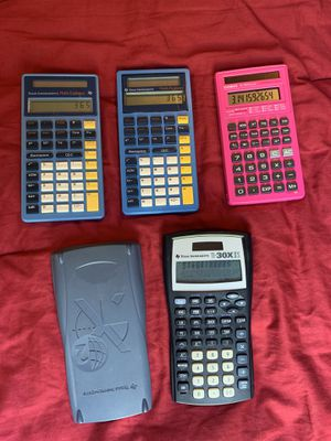 Texas instrument calculators (math explorer/fractions/30XIIS) for Sale in Lincoln, NE