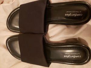 Comfort plus slip on black heels for Sale in Tampa, FL