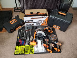 Rigid power tools Brand new used maybe three times for Sale in Heath, OH