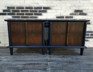 MCM/Art-deco/Retro. Henredon night stands/side tables. Blue/ Walnut for Sale in Westchester, CA