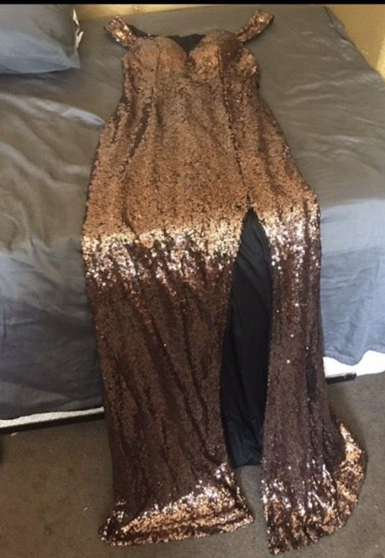 40964dd5a9c7 Evanna Copper/Bronze Evening Dress for Sale in Whittier, CA - OfferUp
