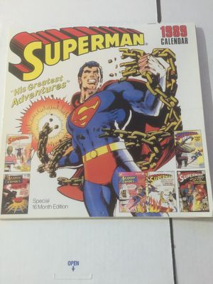 1989 Rare 3D Superman Calendar for Sale in Houston, TX