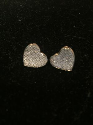 10k earrings diamonds ❤️ aretes de oro for Sale in Pearland, TX