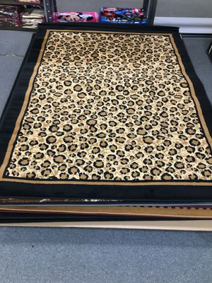 Leopard skin area rug brand new 5x7 foot in size for Sale in Salem, OR