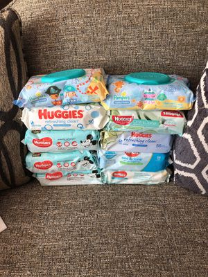 8 Huggies & 2 Pampers wipes& Please see all the pictures and the y for Sale in Alexandria, VA
