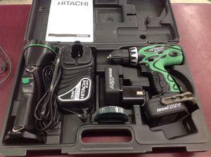 NEW hitachi 2pc cordless kit set drill & flashlight 12v for Sale in Columbus, OH