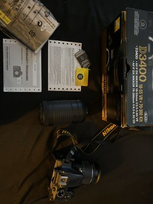 Nikon d3400 with two lense for Sale in Houston, TX