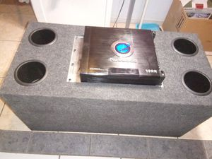"""2 12"""" sub audibanh and amp planet audio for Sale in Las Vegas, NV"""