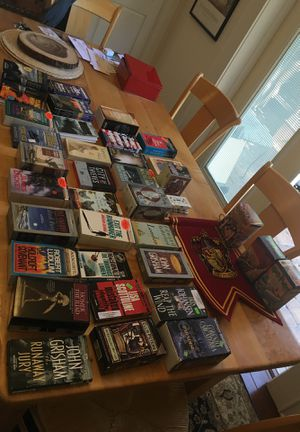 35 books on tape. Original cost $865. Asking $65. Some never opened. See list second photo. for Sale in Tampa, FL
