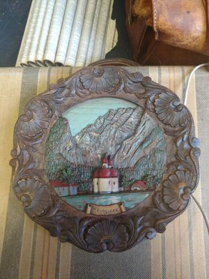 Vintage carved wood plate for Sale in Tacoma, WA