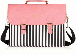 Laptop Bag 14 Inch - for Women,Fashion PU Leather Canvas Shoulder Messenger Cute Tote Laptop Case Briefcase - for All 13.3-14 Inch for Sale in Weslaco, TX
