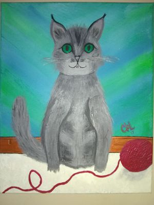 """""""Mittens"""" 16x20 acrylic painting by ceL stretched canvas for Sale in Lynchburg, VA"""