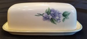 Pfaltzgraff Garden Party Covered Butter Dish for Sale in BETHEL, WA