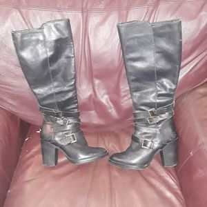 Womens Steve Madden Blk Leather Boots Sz6 for Sale in Yakima, WA