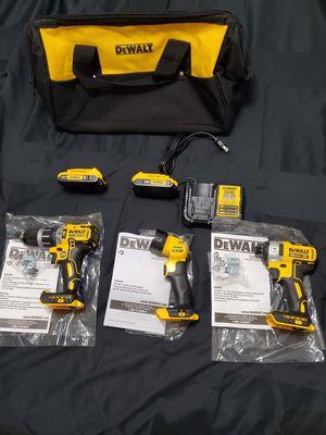 Dewalt 20v XR Brushless 3- tool combo kit for Sale in Riverview, FL