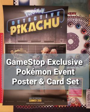Pokemon GameStop Exclusive Detective Pikachu Event Promo Card & Poster for Sale in Chesilhurst, NJ