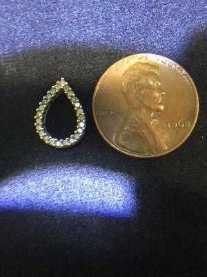 JB Diamonds 14k white gold teardrop pendant w/ Diamonds!! for Sale in Purcellville, VA