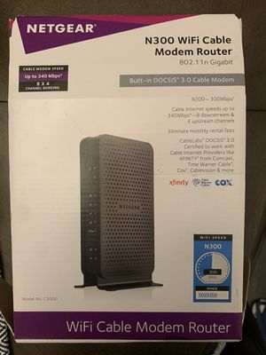 N300 WiFi Cable Modem Router for Sale in Washington, DC