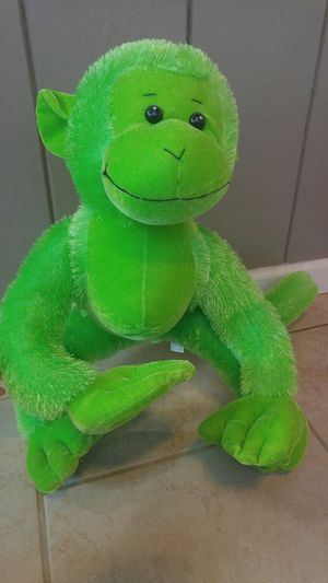 Bright Green Stuffed Monkey Friend for Sale in Fallbrook, CA