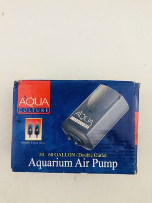 Aqua Culture 20-60 Gallon Aquarium Air Pump for Sale in Mint Hill, NC