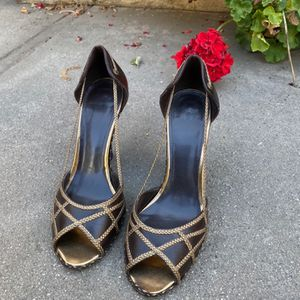 Strappy Joey heels. Great condition! Size 8. More hand me downs I can't keep because of my little feet ),: for Sale in Pomona, CA