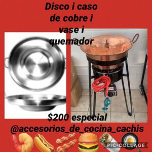 Wok with a copper pot with vase and burner new for Sale in Long Beach, CA