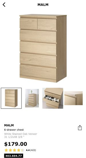 Malm 6-drawers $125 for Sale in Richmond, CA