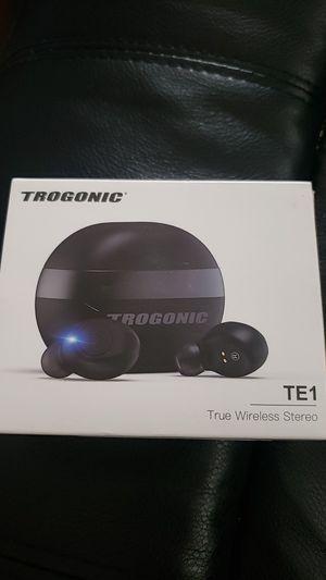 Trogonic TE1 True Wireless Earbuds, TWS 5.0 IPX 5 Sweatproof Bluetooth Earbuds Stereo Headphones in-Ear Built-in Mic for Sale in Fontana, CA