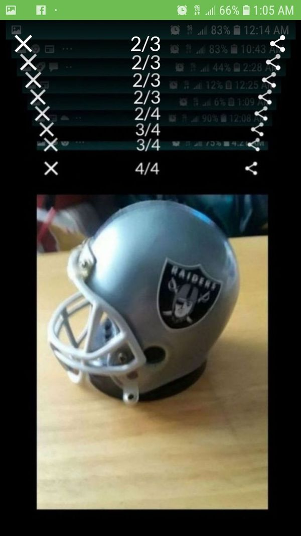 """Vintage"" Raider Helmet clock. For a ""True"" Raider Fan Item is ""Available"" and will mark sold when its gone"