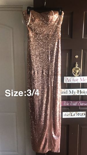Sparkly Tube Top Prom Dress for Sale in Hutchinson, KS