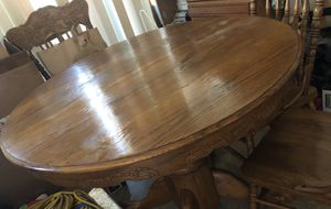Solid oak dining table set for Sale in Castro Valley, CA